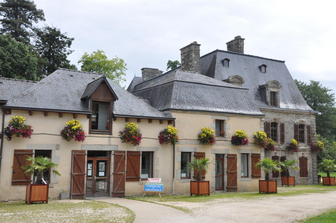 Longère - Tronjoly - Gourin - Pays roi Morvan - Morbihan bretagne sud -  CP OTPRM (3).JPG