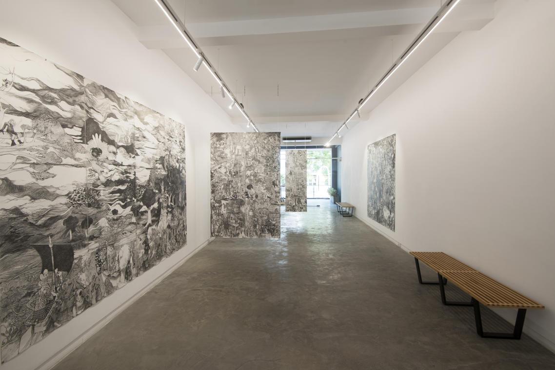FRANCOIS ANDES, Les préparatifs, Graphites sur papier, 16 x 75 x 219 cm, 2015_2020 © Quynh gallerry, Saigon.jpg