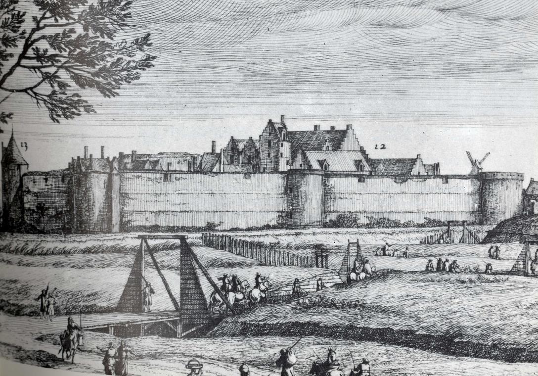 Château de Béthune XVIIème siècle - Gravure Van der MeulenBD.jpg
