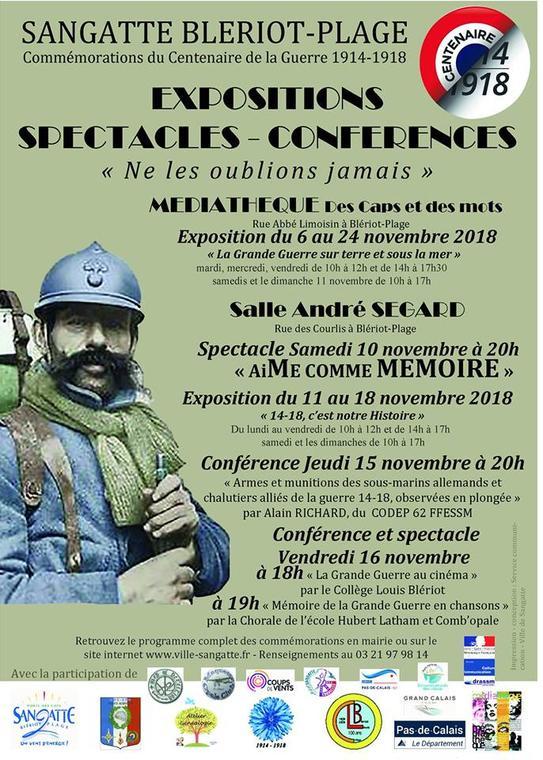 Commémorations du Centenaire de la Guerre 14 18 du 9 au 24 nov.jpg