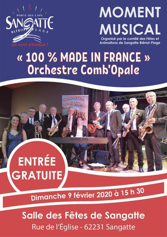 Musique 100 % made in France Comnb'opale  salle des fêtes de Sangatte dimanche 9 février 2020.jpg