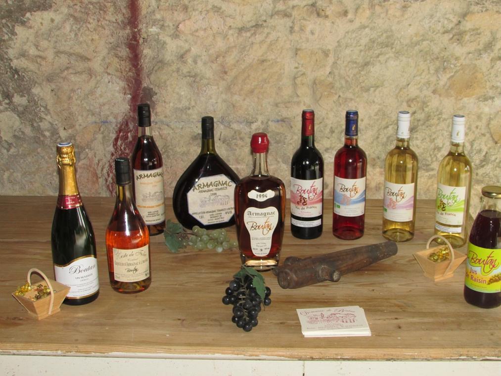 Apéritifs, vins et armagnac en agriculture biologique