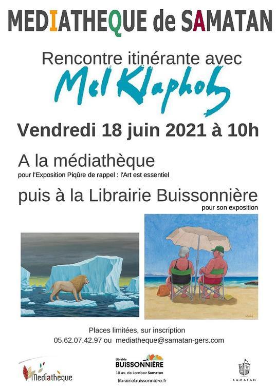 Affiche expo médiathèque Samatan