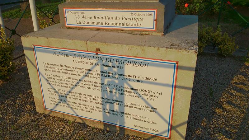 Plaque commémorative BMP < Vesles-et-Caumont < Aisne < Picardie