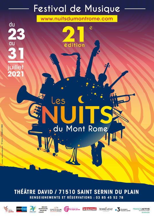 Affiche Nuits du Mont Rome 2021