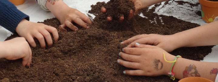 atelier mains dans la terre