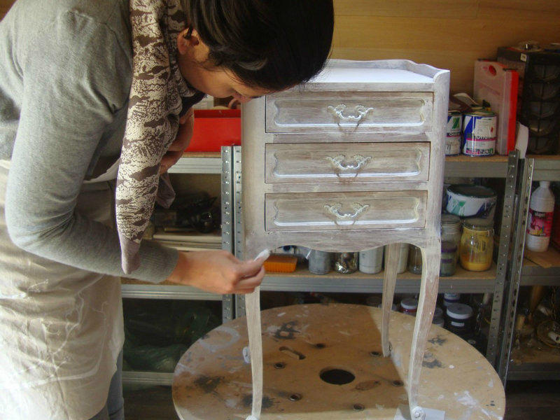 Atelier gris mousse _ relooking meuble