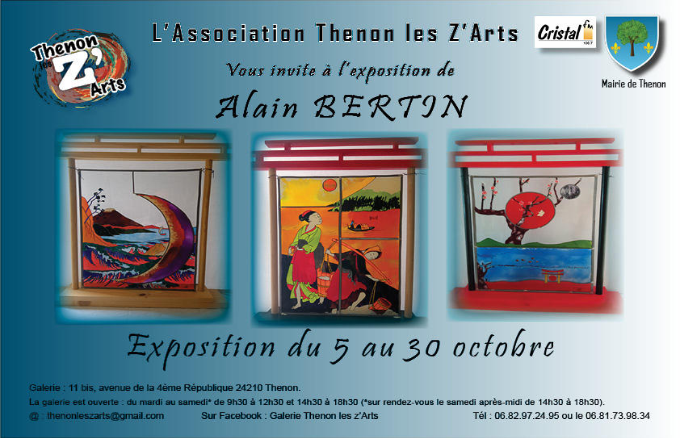 Affiche Alain Bertin Octobre 2021