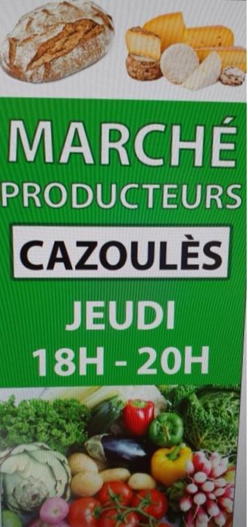 Affiche Marché de Producteurs Cazoulès