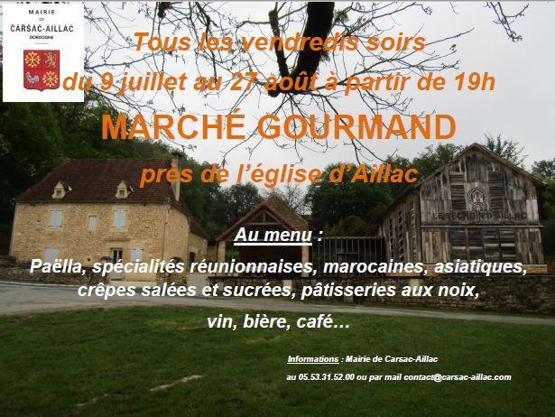 Marché gourmand Aillac