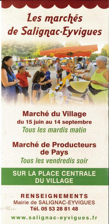 Flyer Marché - Mardi à Salignac