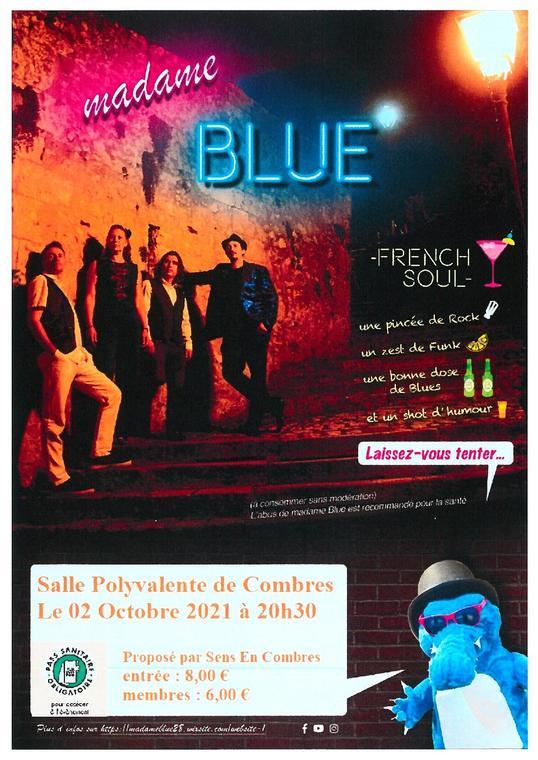 Madame Blue concert Combre - T