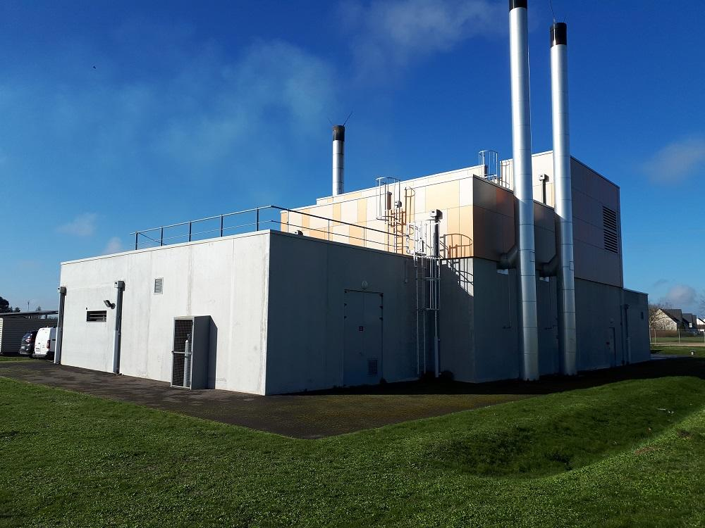 Chaufferie biomasse redimensionnée
