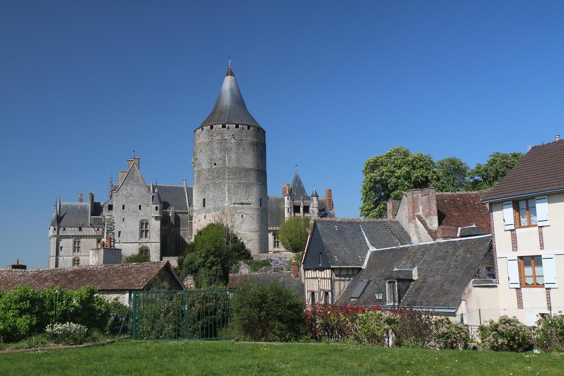 Château vu de l'Hotel-Dieu