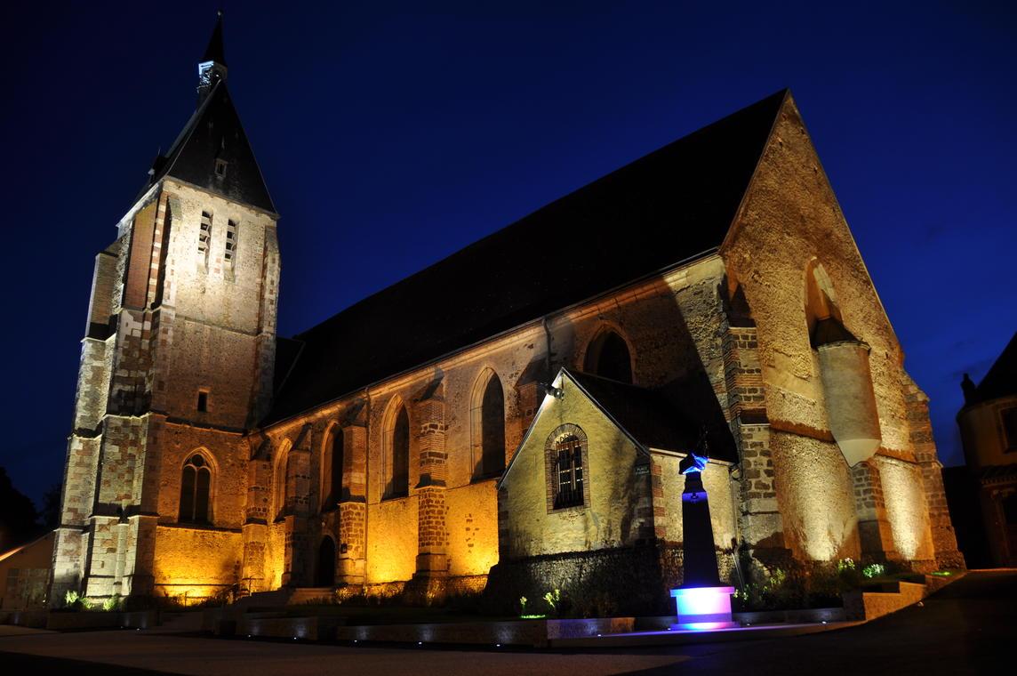 Illumination nocturne église de digny