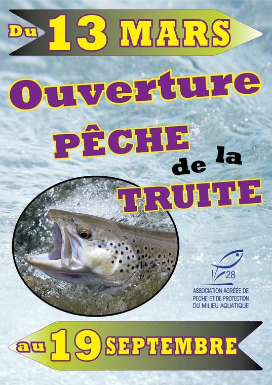 ouverture pêche du 13 mars au 19 septembre