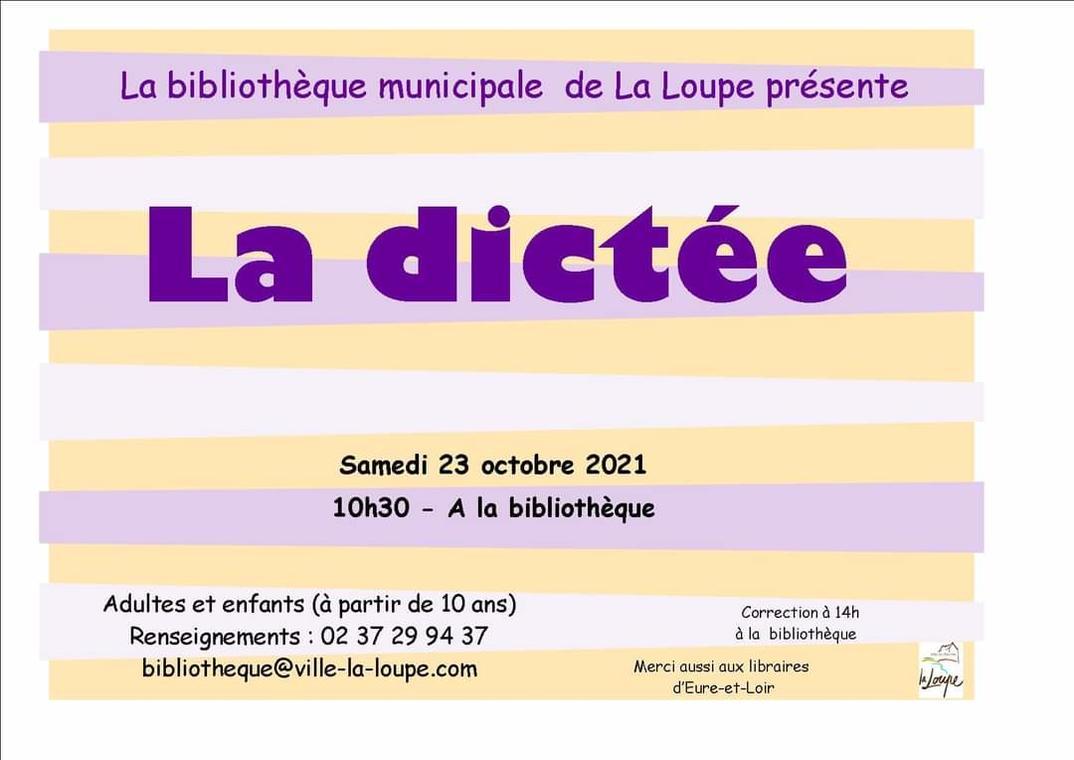 23.10.21 Dictée Bibliothèque La Loupe