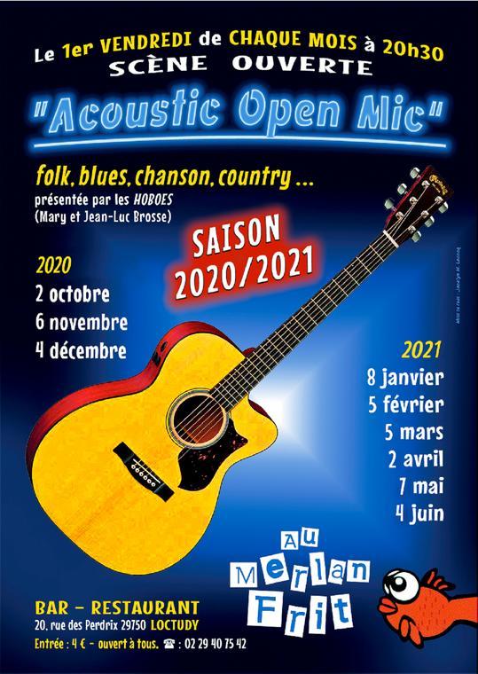 Juin 2021 4 depuis octobre 2020 2 Loc Acoustic Open Mic