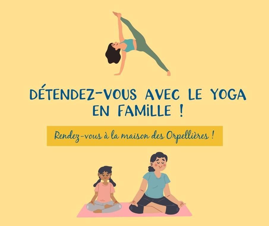 Yoga en famille aux Orpellières