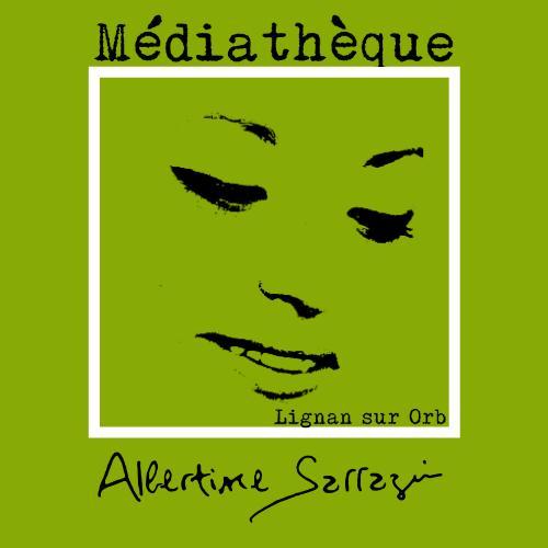 logo médiathèque albertine sarrazin