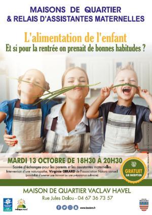 2020-10-13 L'alimentation de l'enfant Béziers