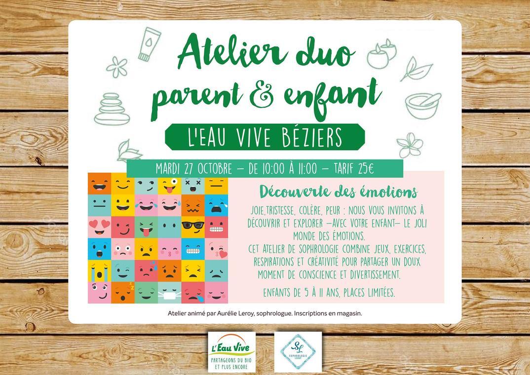 2020-10-27 Atelier Découverte des émotions  parent enfant Béziers
