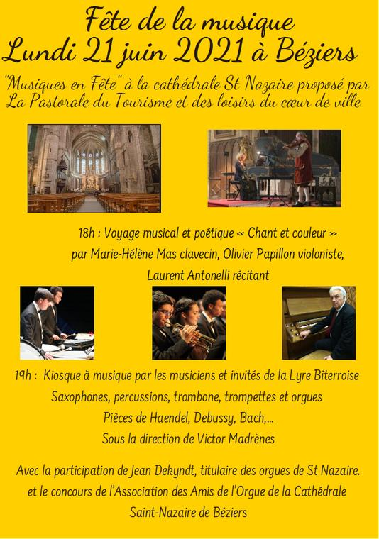 2021-06-21 Fête de la Musique Cathédrale Béziers