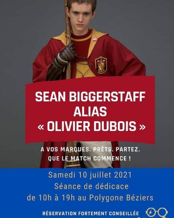2021-07-10 Dédicace Sean Biggerstaff Harry Potter Wizard Geek Béziers