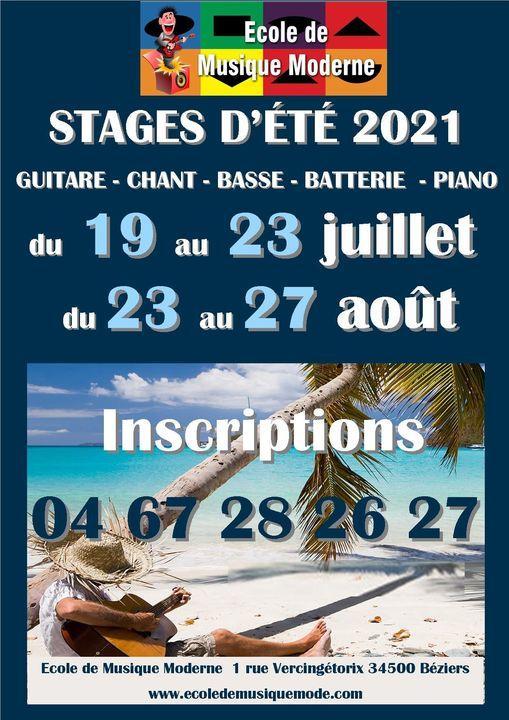 2021-08 27 Stages Ecole de Musique Moderne Béziers