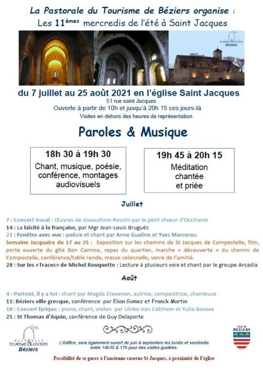 2021-08 Parole et Musique Saint Jacques Béziers