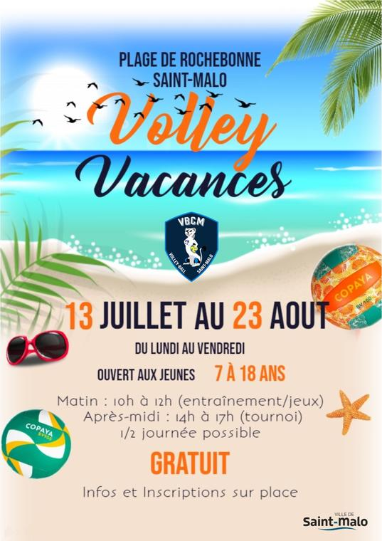 affiche volley vacances 2020