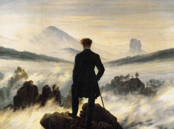 5 - Caspar David Friedrich_voyageur contemplant une mer de nuage_1818