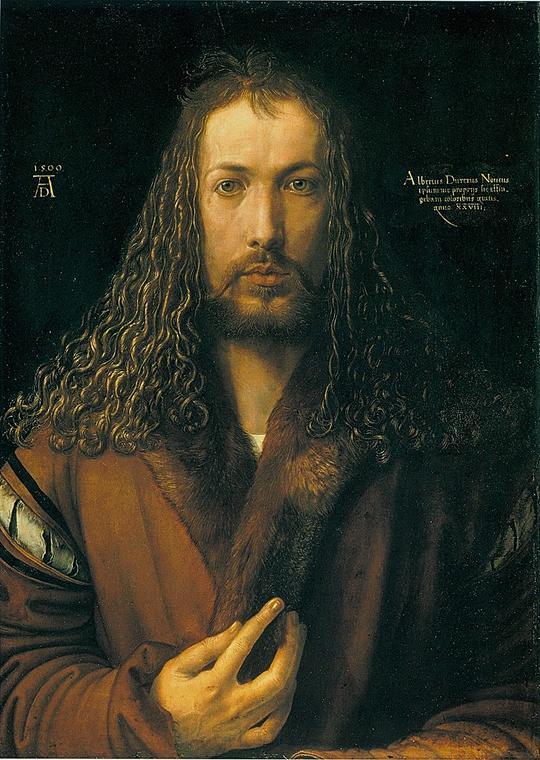 9 - Dürer_Autoportrait à la fourrure_1500_Munich