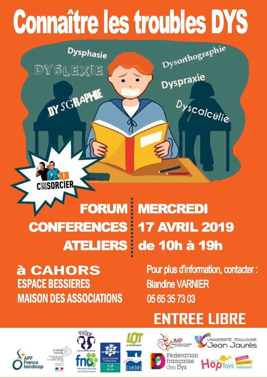 17 avril forum DYS Cahors