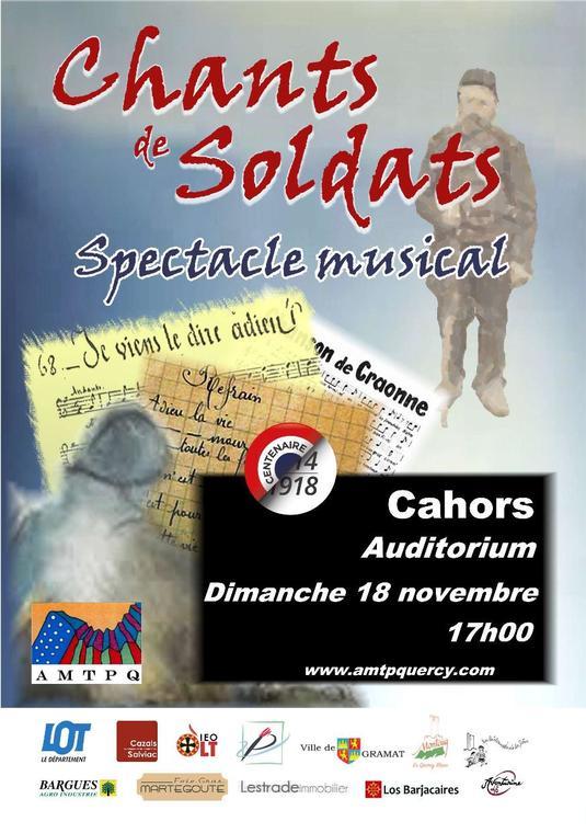 18 nov chants de soldats Cahors