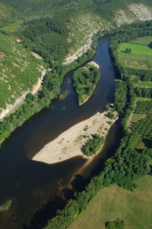 20-la Dordogne vue du ciel - Lot Tourisme-ECAV aviation-Michel Bernard