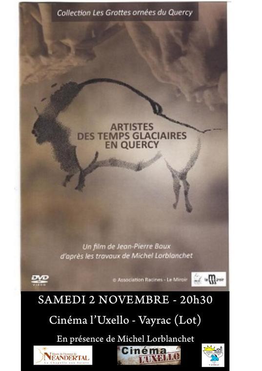Affiche cinéma et préhistoire - Artistes des temps glaciaire en Quercy- 02-11
