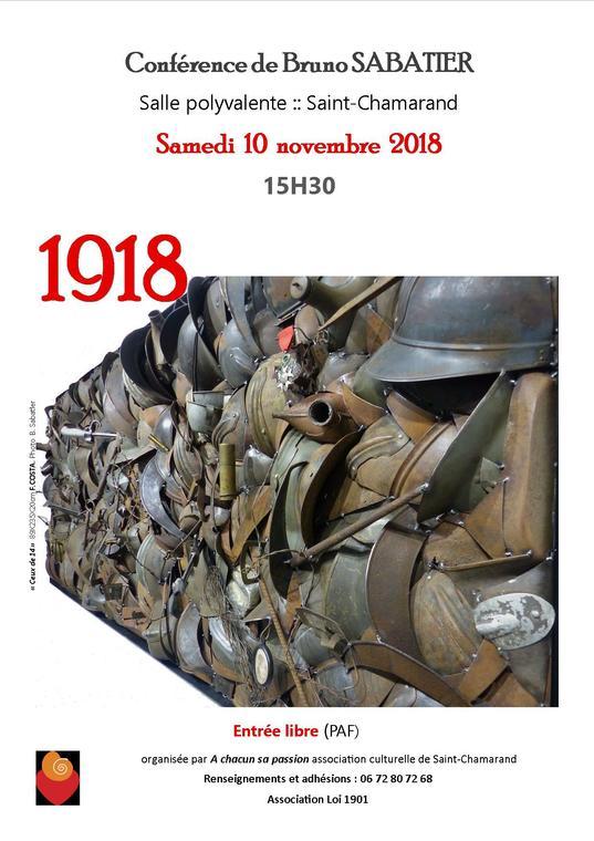 Affiche conférence B. Sabatier 10 nov 2018