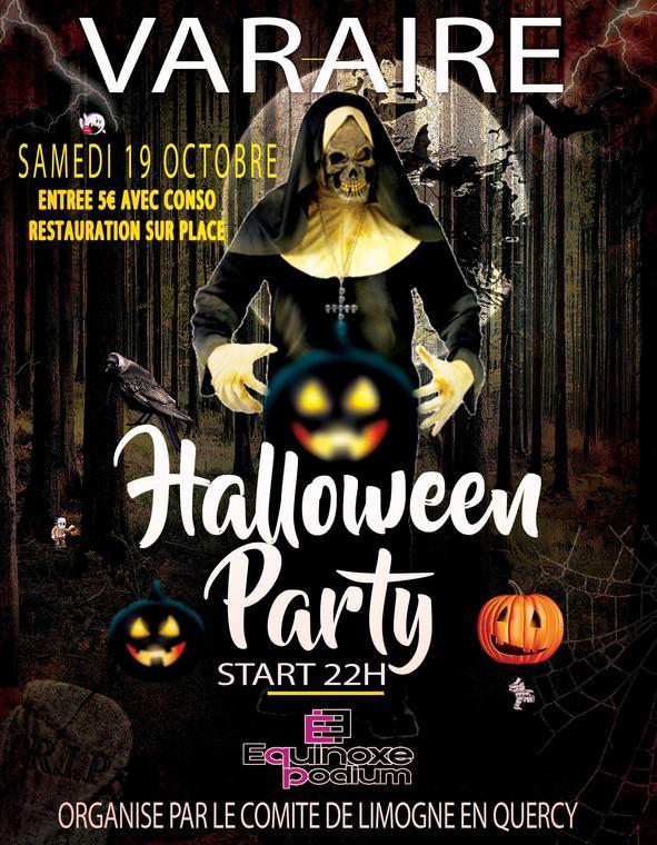 Affiche soirée disco Halloween 19-10-2019