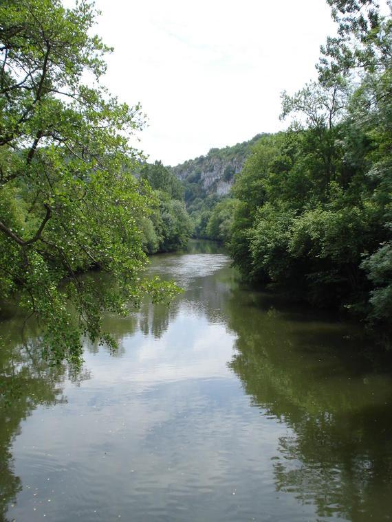 Baignade du Liauzu dans la rivière Célé
