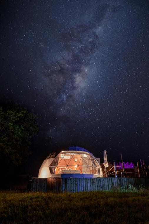 nuit etoilé dome