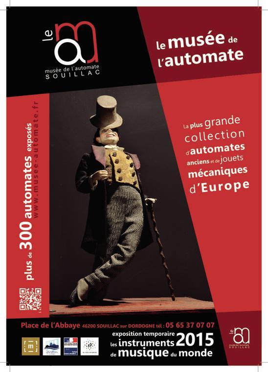 """Portes ouvertes au Musée de l'Automate et découverte de l'exposition temporaire """"Les instruments de musique du Monde""""."""