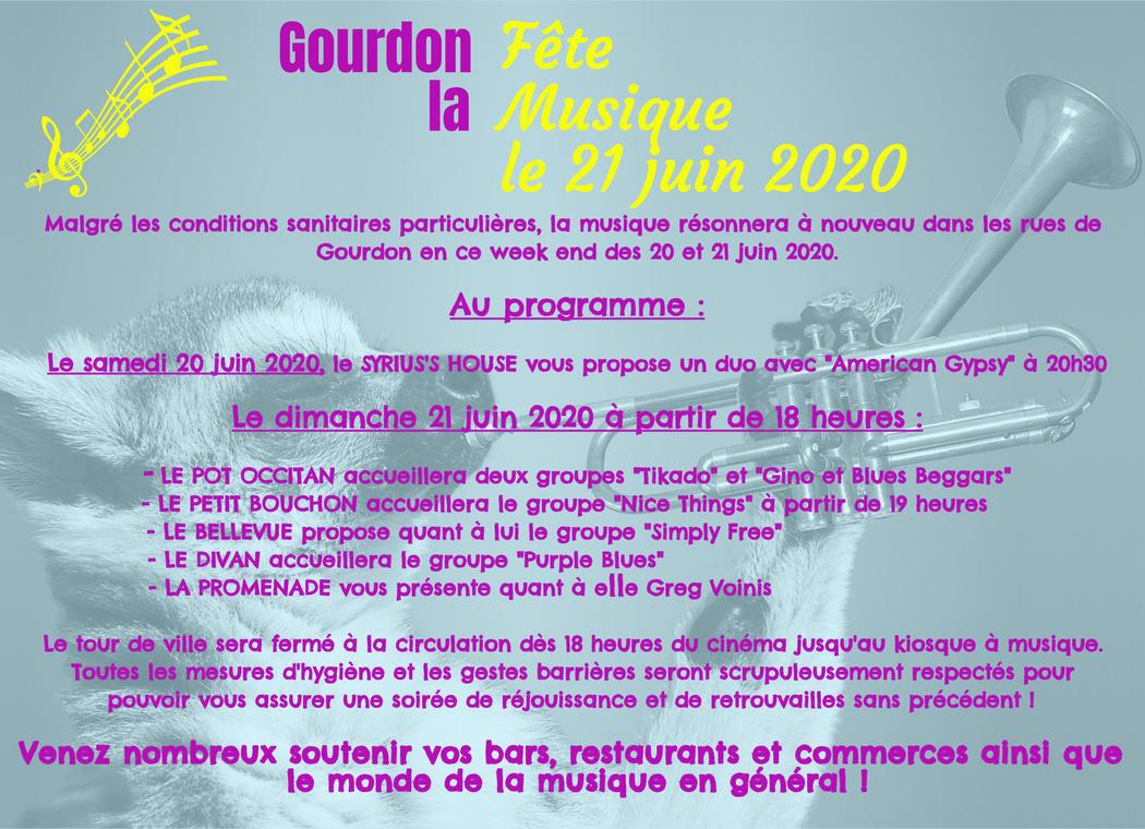 Fête musique Gourdon 2020