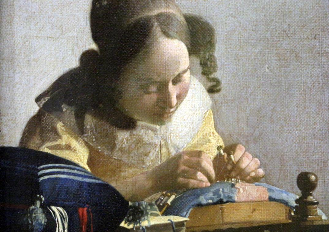 Johannes Vermeer, la dentellière ,1669