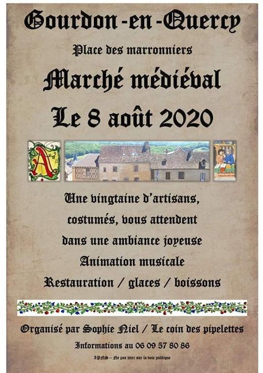 Marché médiéval 08 août 2020