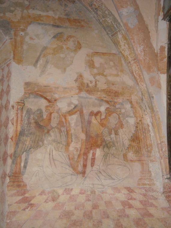 Peintures murales, église Reilhaguet