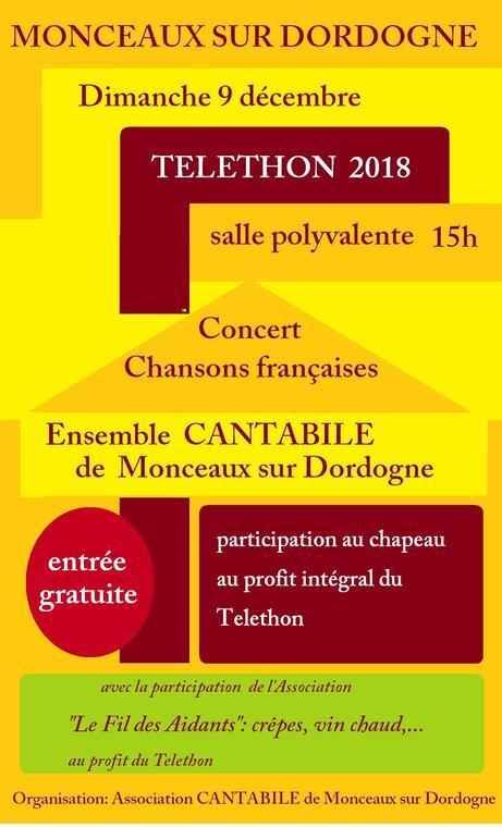 Téléthon 2018 Cantabilefilaidants