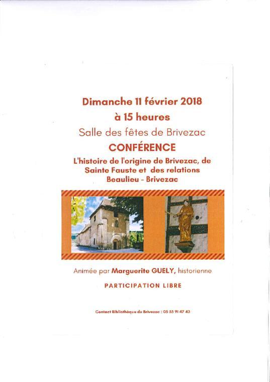 conférence Brivezac 11 février