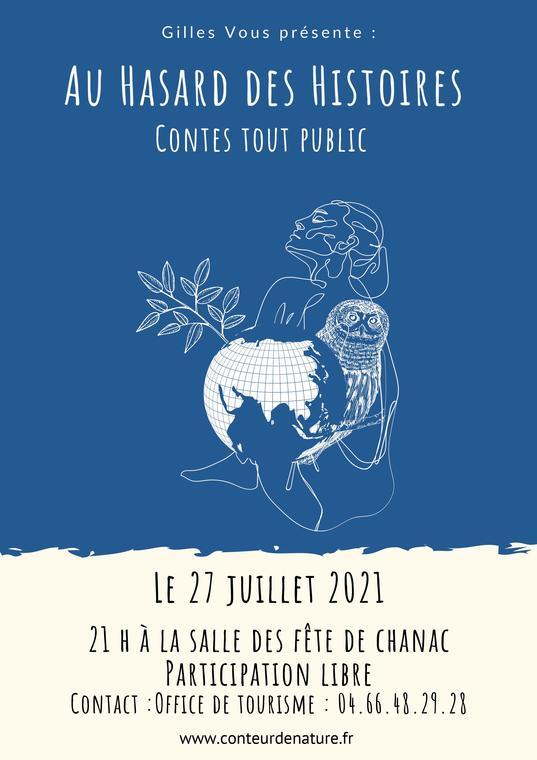 Affiche soirée conte - Gilles Bougère