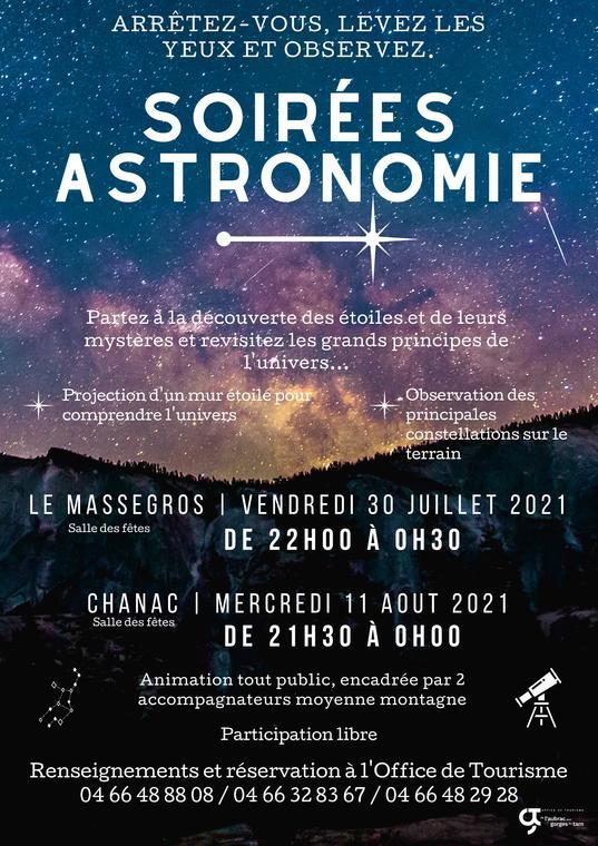 Soirées astronomie 2021